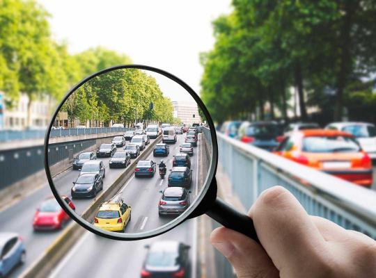 Loep op verkeer in Brussel