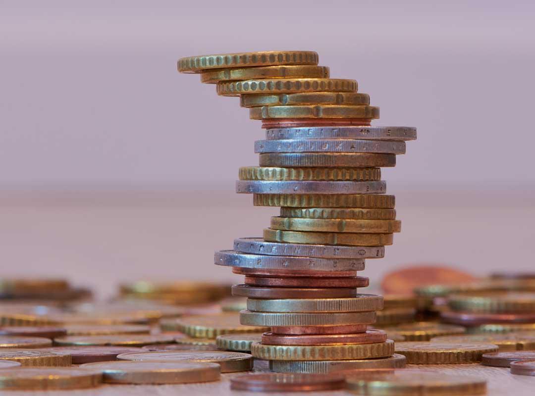 Toren met muntstukken